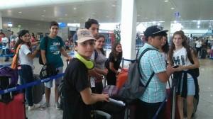 Αποχαιρετισμός στο αεροδρόμιο Ελ.Βενιζέλος.
