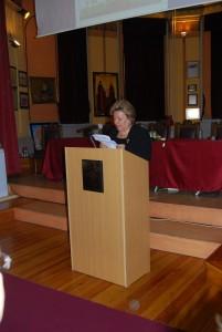 Η Διευθύντρια της Σχολής κ. Βιβή Λαιμοπούλου στο βήμα